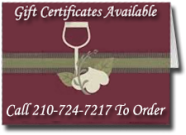 We also sell gift certificates.
