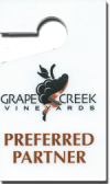 We are a preferred partner at Grape Creek Vineyards.